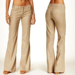 Level99 Newport Linen Blend Wide Leg Pants Size 25